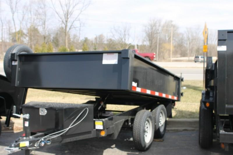 2021 Quality Steel and Aluminum 5 x 10 7K Tandem Axle  Dump Trailer