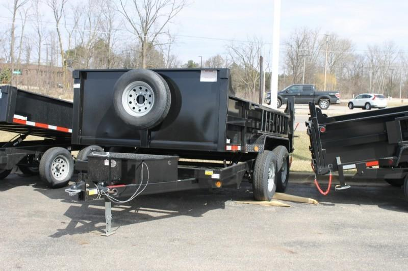 "2021 Quality Steel and Aluminum 83"" x 12' 12K Tandem Axle Dump Trailer 0 down Call Bob"