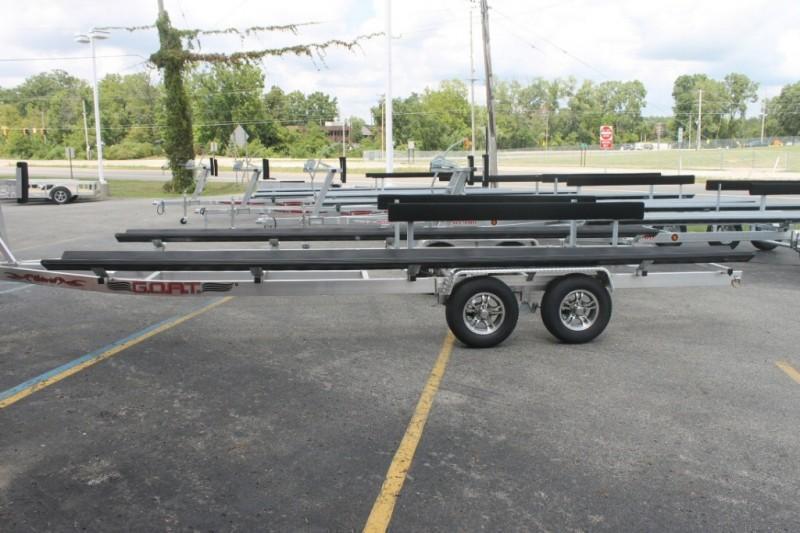 2020Wolverine 28' Pontoon Trailer G.O.A.T Aluminum Tandem Bunk