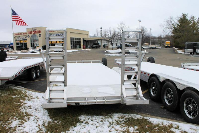 2021 Wolverine Trailers Flat Bed Equipment Trailer 7x22