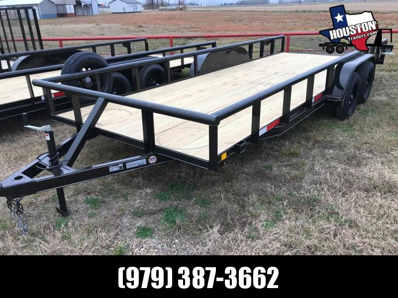 "2021 J&C Trailers 20' x 83"" Pipe Top 7k Utility Trailer"