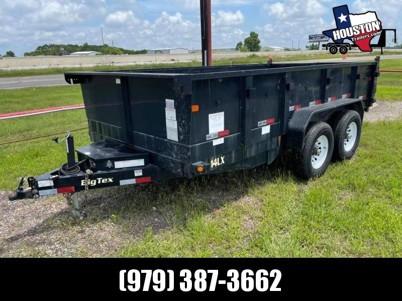 RENTAL: 2015 Big Tex 14' x 7' Hydraulic Dump 14k Dump Trailer