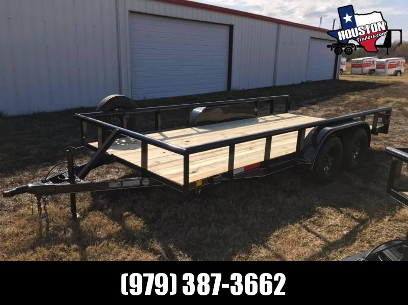 "2021 J&C Trailers 16' x 83"" Pipe Top 7k Utility Trailer"