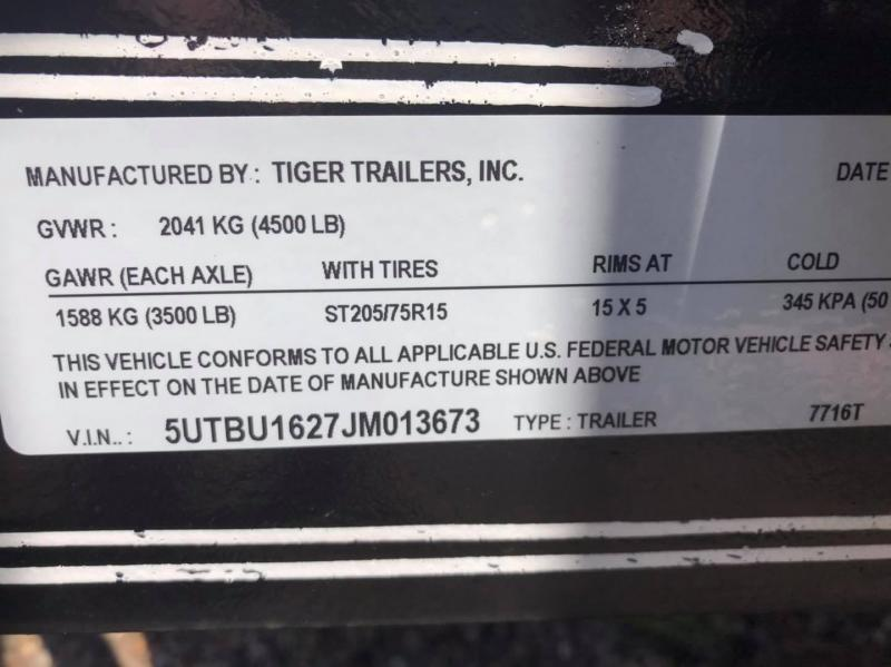 2018 Tiger 16' Trash / Potty Combo Trailer TI-29