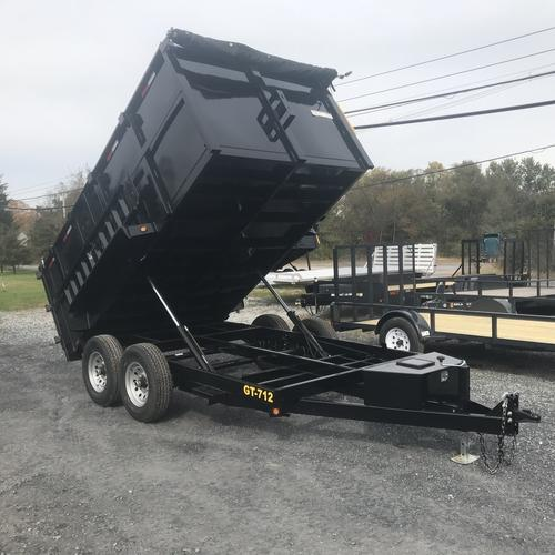 GRIFFIN-7'x 12' 12k Low Profile Dump 4ft High Sides