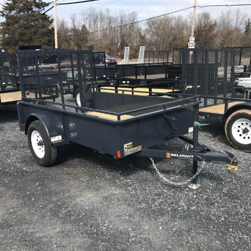 BELMONT - 5'x8' Solid Side Single Axle