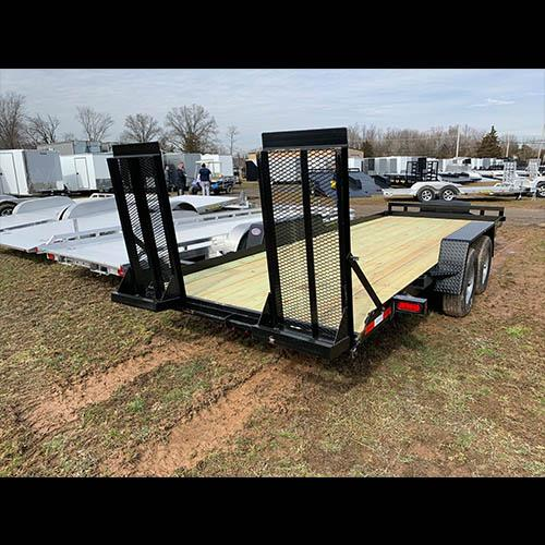 "MCT 6'10""x20' Wood Deck Equipment Trailer"