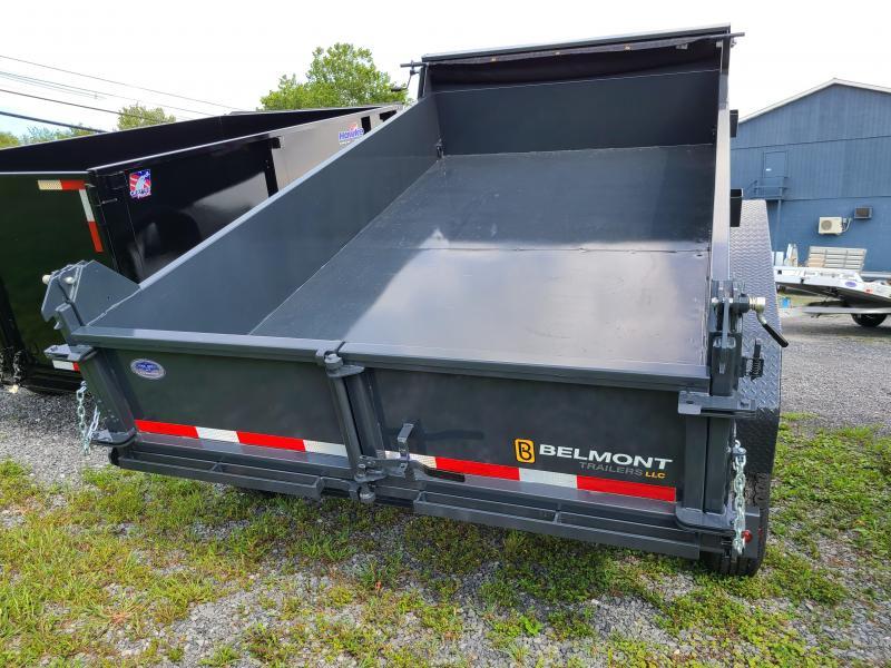 Belmont 7'x 12' Heavy Duty 12k Low Profile Dump With Power Tongue Jack