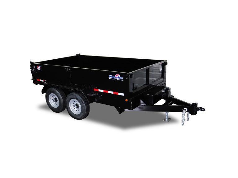 2021 Hawke Trailers 7X12 12000 Lo Pro Dump