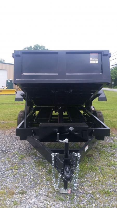 2021 Hawke Trailers 7X12 12000 Lo Pro Dump 4 FT Sides