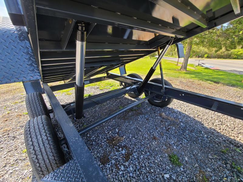 Belmont 7x16 Heavy Duty 14k Low Profile Dump With Power Tongue Jack