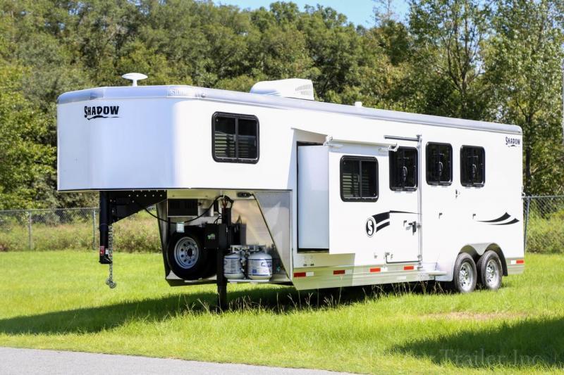 2021 Shadow Competitor 3 Horse Slant Load Gooseneck w 7 6 Living Quarters
