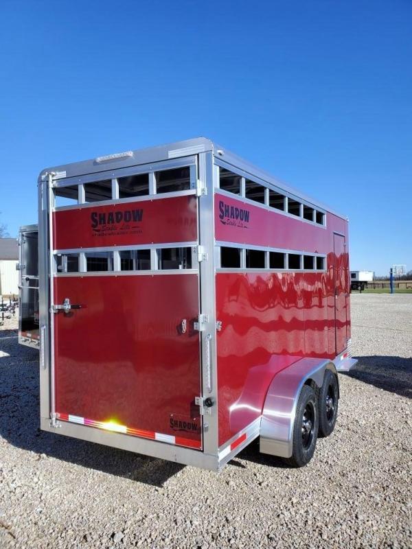 2021 Shadow StableLite 3 Horse Slant Load Stock Open Slats Bumper Pull