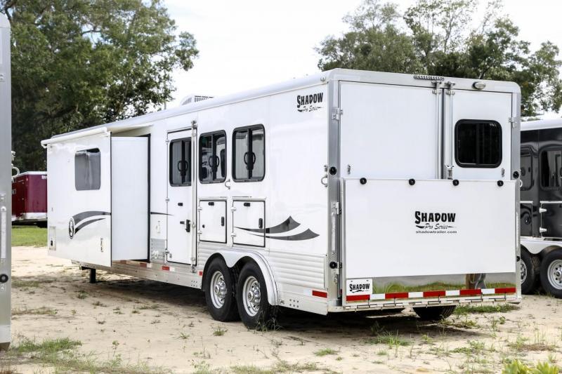 2020 Shadow Trailers 80279E-3SL-GN-E-LQ Horse Trailer