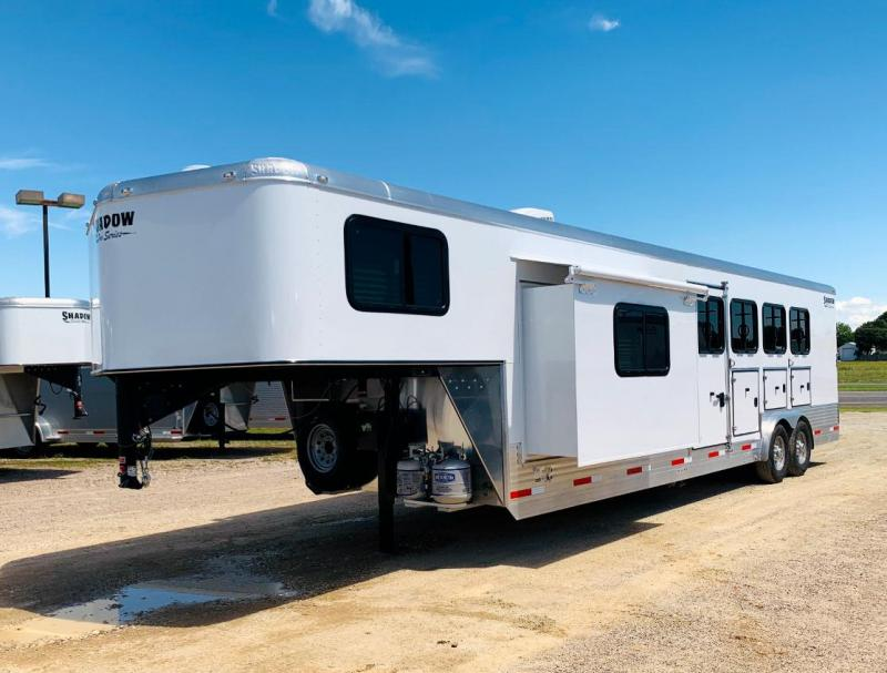 2021 Shadow Pro 4 Horse Trailer Slant Load Goose Neck w 10 6 Living Quarters