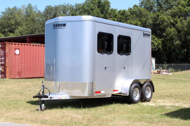 2021 Shadow Trailers Stablemate 2 Horse Trailer Stock Combo Slant Load Bumper Pull