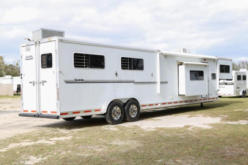 2008 Shadow 4 Horse Slant Gooseneck W/ Living Quarters
