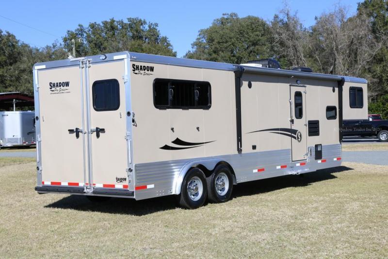 2021 Shadow Trailers 80263E-3SL-GN-E-12'6 LQ Horse Trailer