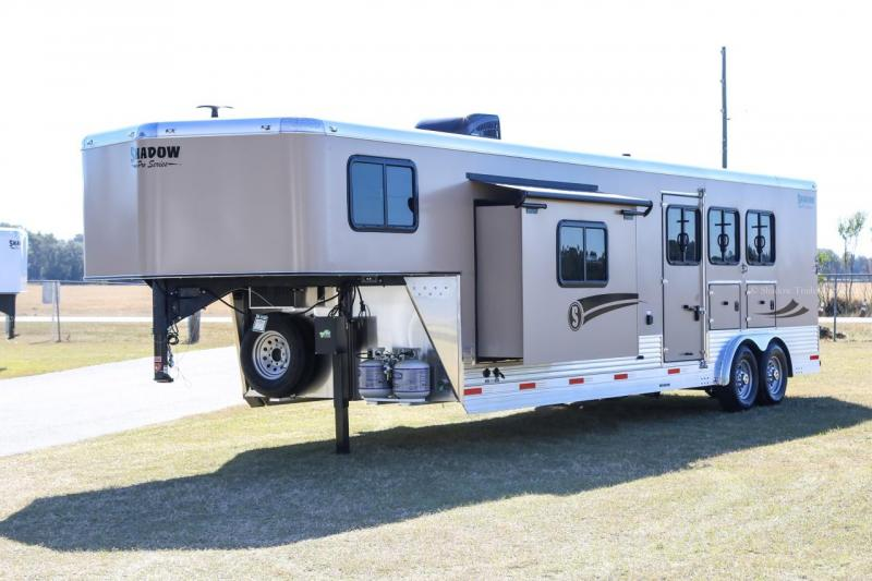 2021 Shadow Trailers 80263E-3SL-GN-E-12'6 LQ Horse Trailer