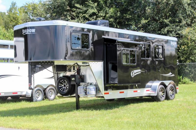 "2021 Shadow Competitor 2 Horse Trailer Slant Load GooseNeck w/ 7'6"" Living Quarters"