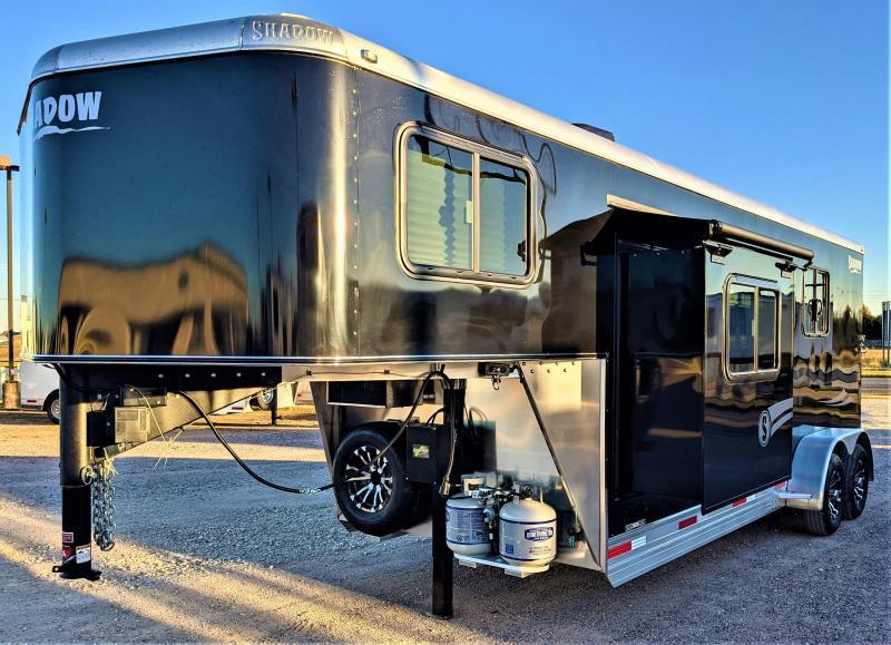 "2021 Shadow Competitor 2 Horse Trailer Slant Load GooseNeck w/ 7'6"" Living Quarters"