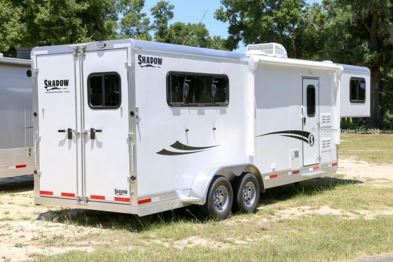 """2021 Shadow Competitor 3 Horse Slant Load Goose Neck w/ 7'6"""" Living Quarters"""