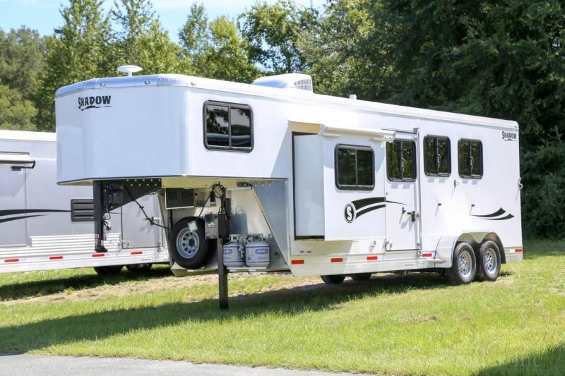 "2021 Shadow Competitor 3 Horse Trailer Slant Load GooseNeck w/ 7'6"" Living Quarters"