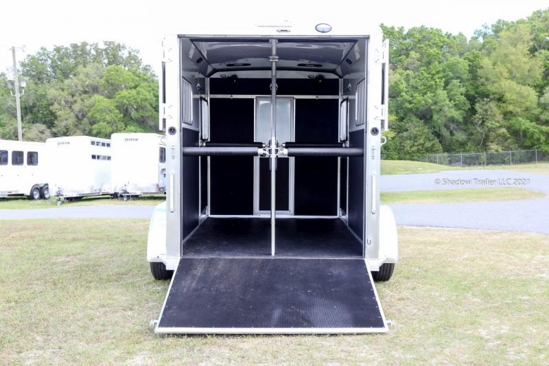2021 Shadow Pro Series 2 Horse Trailer Straight Load Bumper Pull