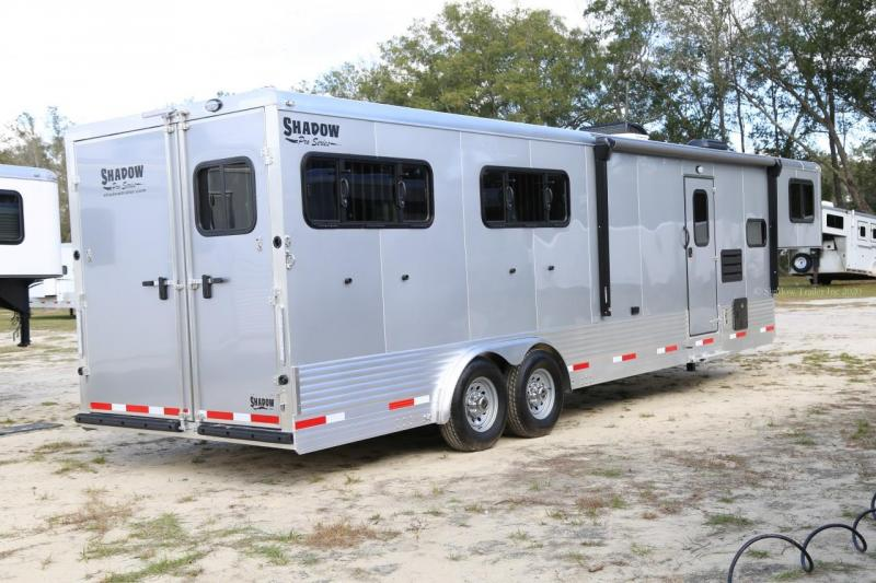 2021 Shadow PRO 4 Horse Trailer Slant Load with 10.6' Living Quarters