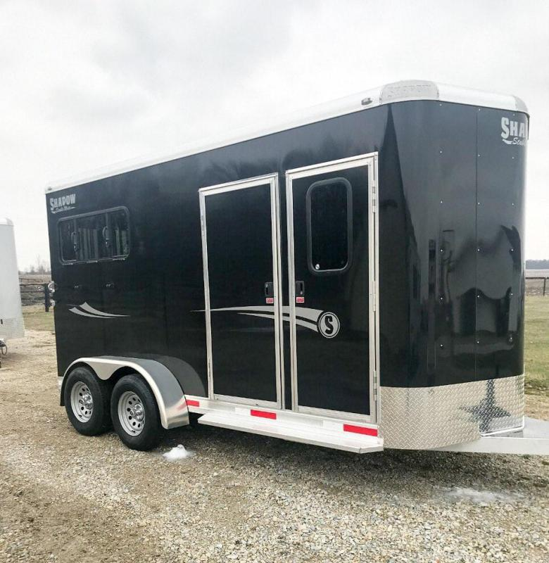 2020 Shadow Trailers 2H Slant BP Mid Tack 64160W-2SL-MID-BP Horse Trailer