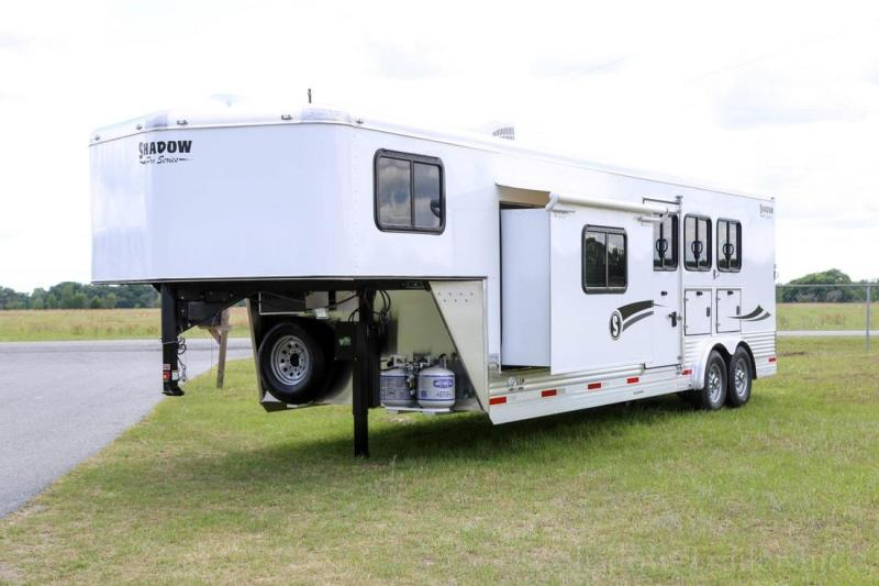 2020 Shadow Trailers Pro Series 3 Horse Trailer Slant Load with 10.6' Horse Trailer