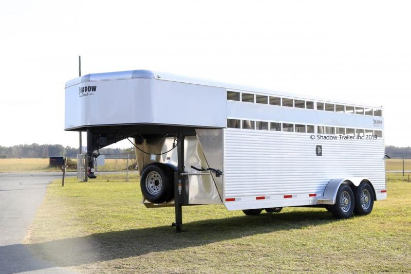 2020 Shadow 20' Stock Trailer with Calf Gate and Escape Door