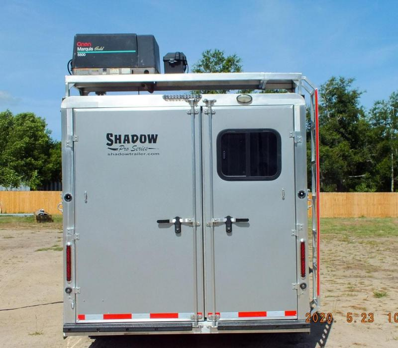 2019 Shadow 3 Horse Slant Load Goose Neck w/ 14' Living Quarters