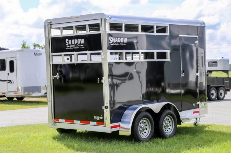 2021 Shadow Stablelite 2 Horse Trailer Slant Load Stock Open Slats Bumper Pull