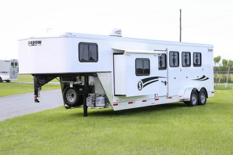 "2021 Shadow Getaway 4 Horse Slant Load Goose Neck w/ 9'6"" Living Quarters"