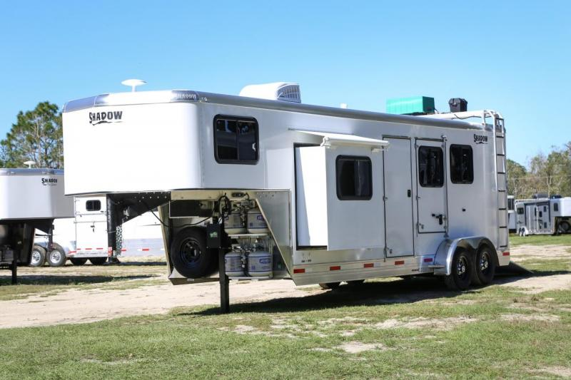 "2021 Shadow Competitor  2 Horse Slant Load 7'6"" Living Quarters"