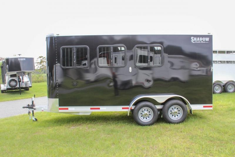 2021 Shadow Stablemate 3 Horse Slant Load Stock Combo Bumper Pull