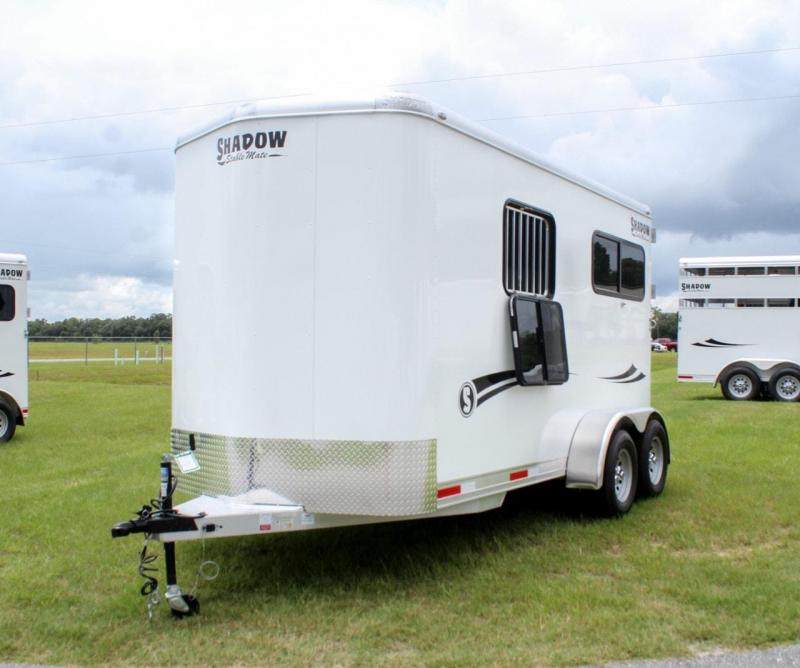 2021 Shadow Stablemate 2 Horse Trailer Straight Load Bumper Pull w/ Rear Ramp/Dutch Door Combo
