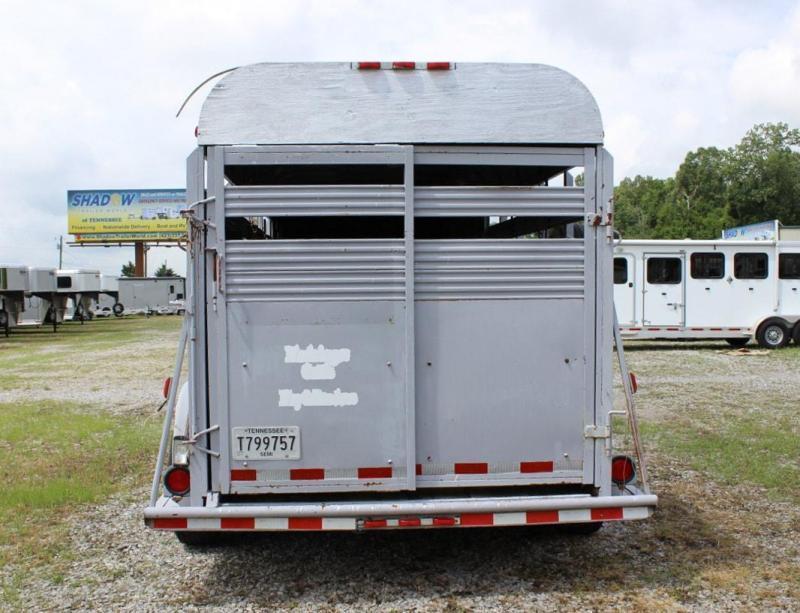 1992 Bonanza 3 Horse Straight Load Stock Combo Goose Neck Livestock Trailer