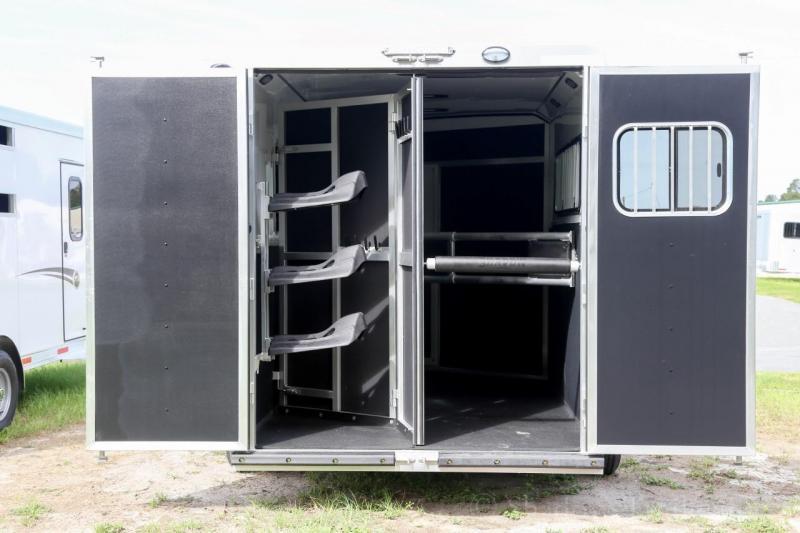 2021 Shadow PRO 3 Horse Trailer Slant Load Plus Pack Goose Neck w/ Escape Door