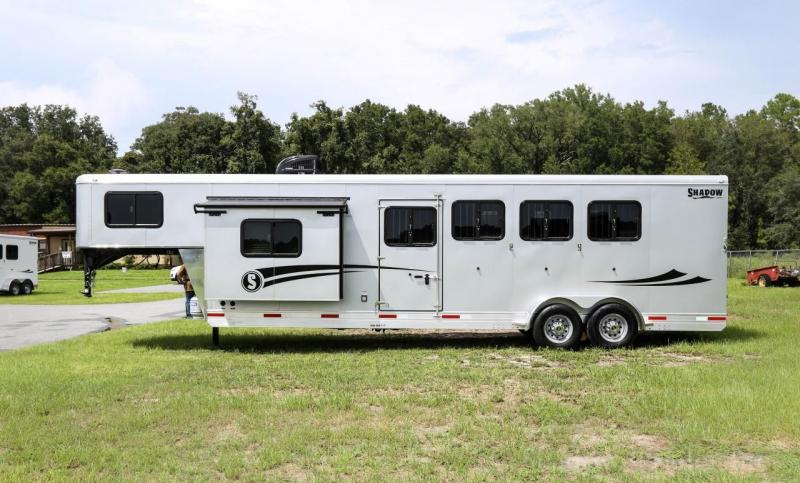 2021 Shadow Getaway 4 Horse Slant Load Gooseneck w/ 9'Living Quarters