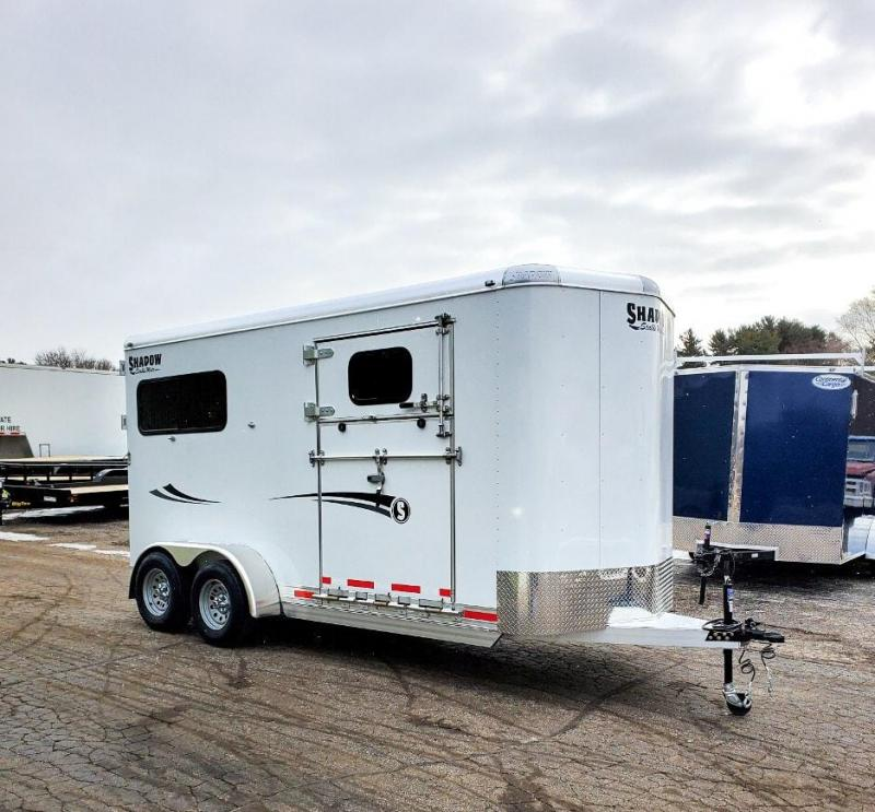 2020 Shadow Trailers 2H Straight BP Side Ramp 64166S-2STR-SR-BP Horse Trailer