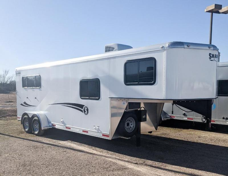 2021 Shadow Plus Pack II 3 Horse Trailer Slant Load with 5.6' Living Quarters