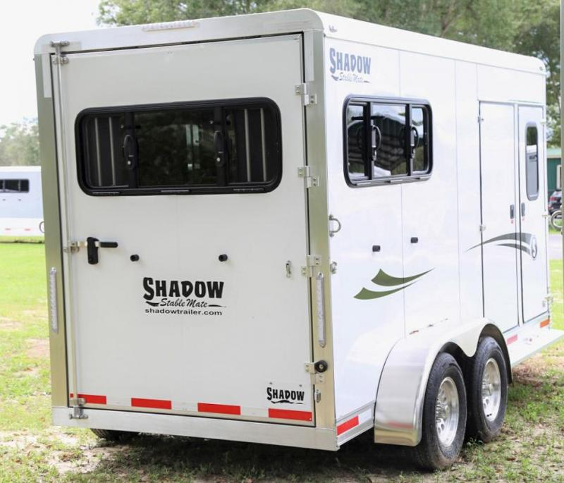 2021 Shadow Stablemate 2 Horse Slant Load Bumper Pull w/ Mid Tack