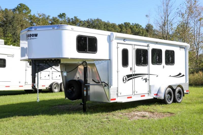 2021 Shadow PRO 3 Horse Slant Load Gooseneck Plus Pack w/ Escape Door