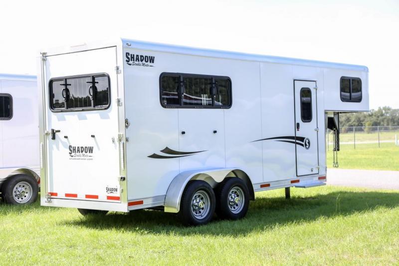 2021 Shadow Stablemate 3 Horse Slant Load Gooseneck w Escape Door