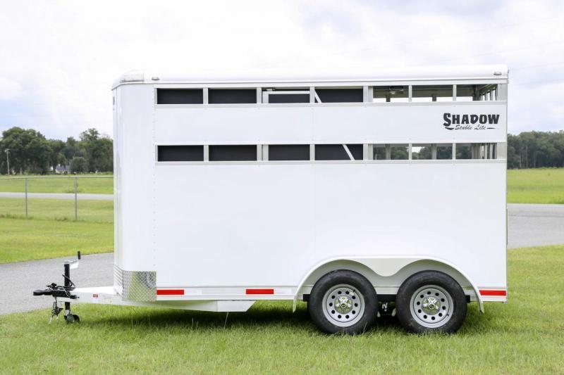 2021 Shadow Stablelite 2 Horse Slant Load Stock Open Slats Bumper Pull