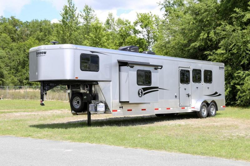 2020 Shadow Pro Series 3 Horse Trailer Slant Load Gooseneck with 15' Living Quarters