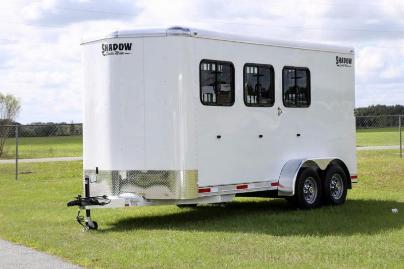2021 Shadow Stablemate 3Horse Slant Load Stock Combo Bumper Pull