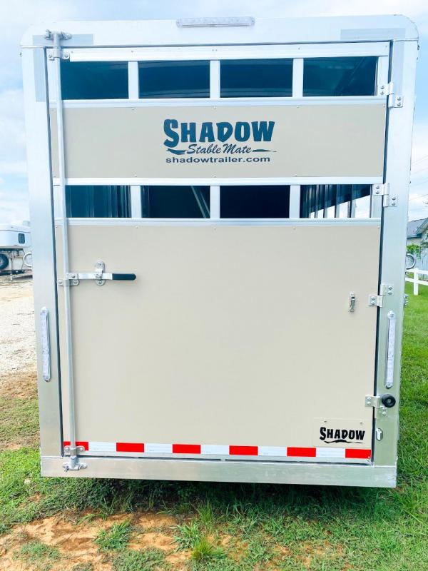 2021 Shadow Stablemate 3 Horse Trailer Slant Load Stock Combo w/ Escape Door